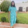 meerahini blue floral co-ord set