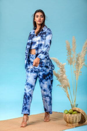 Mid Night Blue co-ord set by meerahini